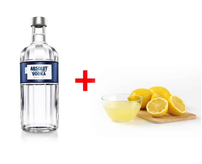 водка и лимонный сок - избавиться от запаха в холодильнике