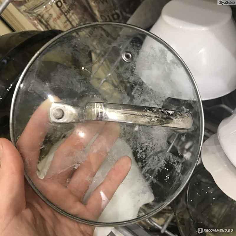 Почему после посудомойки на посуде остается белый налет, посуда мутная