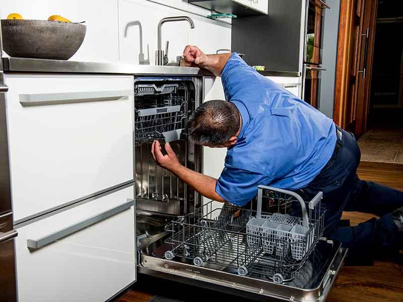 Как открыть посудомоечную машину